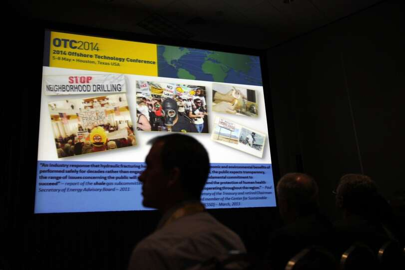 Protesting in regards to drill was mentioned in the  Unconventional Impact Panel during the Offshore