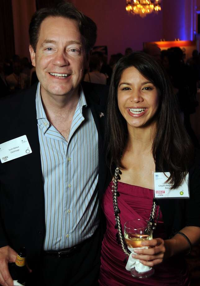 Scott Wallace and Tina Ming attend the 14th Annual UK Energy Excellence Reception at the Hilton Post Oak on May 5 during the 2014 Offshore Technology Conference. Photo: Dave Rossman, For The Houston Chronicle