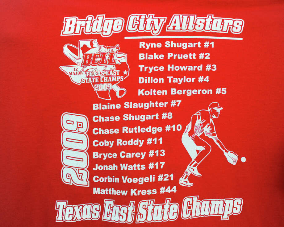 August 2009: The Bridge City 12-year-old All-Stars team shirt. Photo: Valentino Mauricio / Beaumont