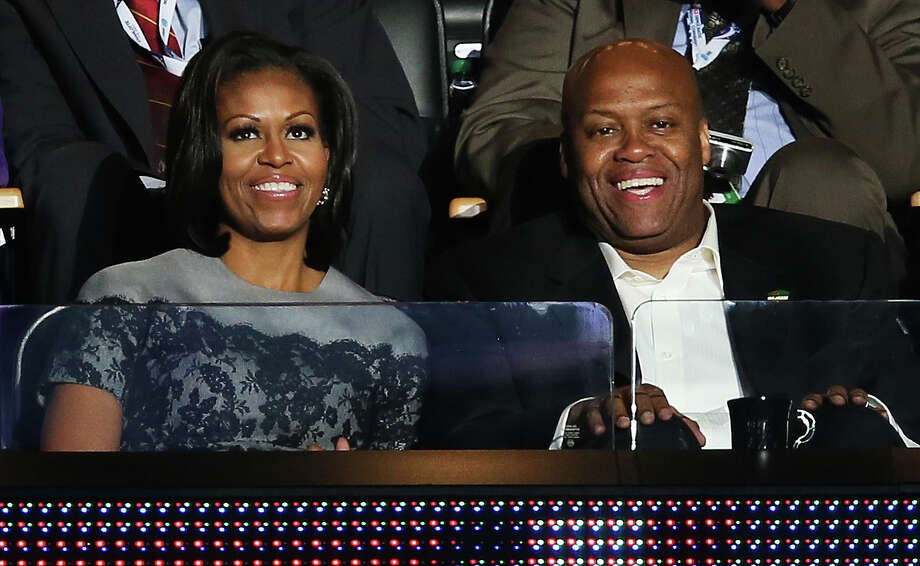 FILE - MAY 5, 2014: According to sources Oregon State fired men's basketball coach Craig Robinson,  the brother-in-law of President Barack Obama, May 5, 2014. CHARLOTTE, NC - SEPTEMBER 05:  First lady Michelle Obama sits with her brother Craig Robinson in a box during day two of the Democratic National Convention at Time Warner Cable Arena on September 5, 2012 in Charlotte, North Carolina. The DNC that will run through September 7, will nominate U.S. President Barack Obama as the Democratic presidential candidate.  (Photo by Alex Wong/Getty Images) Photo: Alex Wong, Staff / 2012 Getty Images