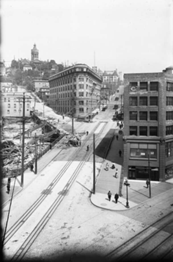 Old Public Safety Building – Bounded by 4th Avenue, Terrace Street, 5th Avenue and Yesler Way -- Added to the National Register of Historic Places on June 19, 1973. Photo: -