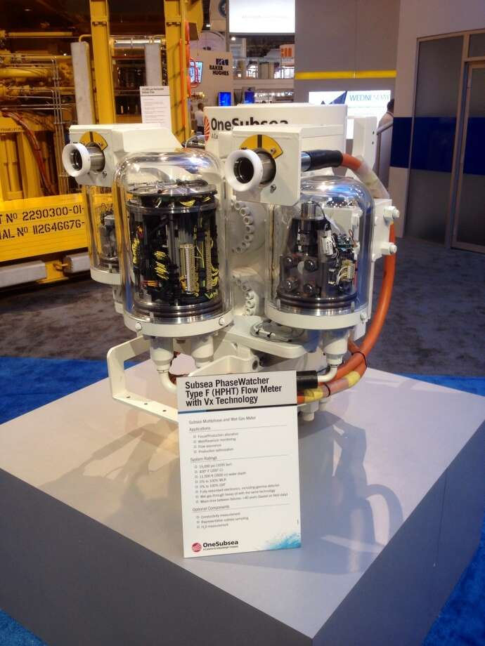 A Subsea Phase Watcher is shown at OTC, Tuesday, May 6, 2014. (Thomas Shea / Houston Chronicle)