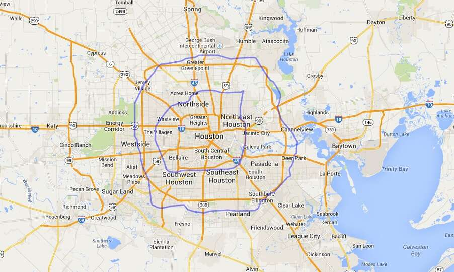 San Antonio Loops 1604 And 410 Compared To Houston