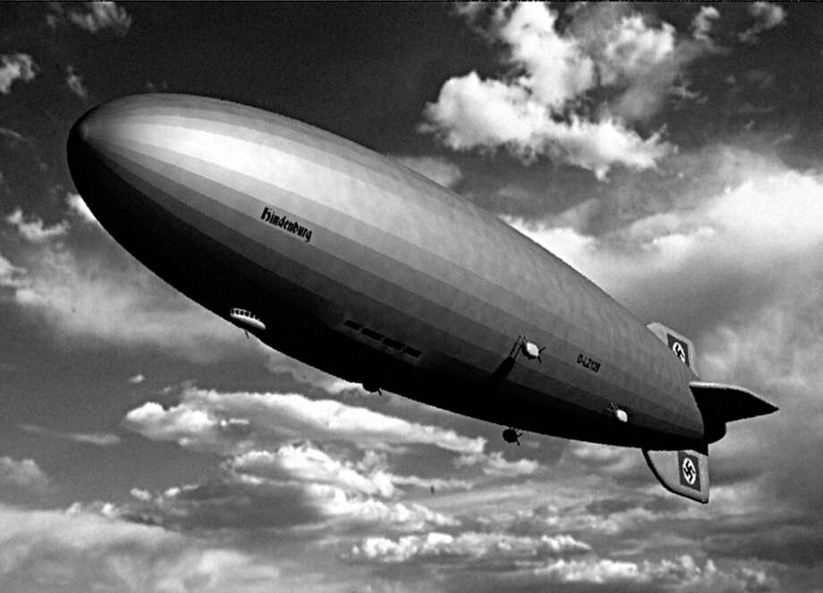 A stock photo of the German air ship, Hindenburg, which flew over Fairfield on May 6, 1937, en route to its fiery demise in New Jersey later that day. The zeppelin was seen by former Town Attorney Roy Ervin as a child. Photo: Contributed Photo / Fairfield Citizen