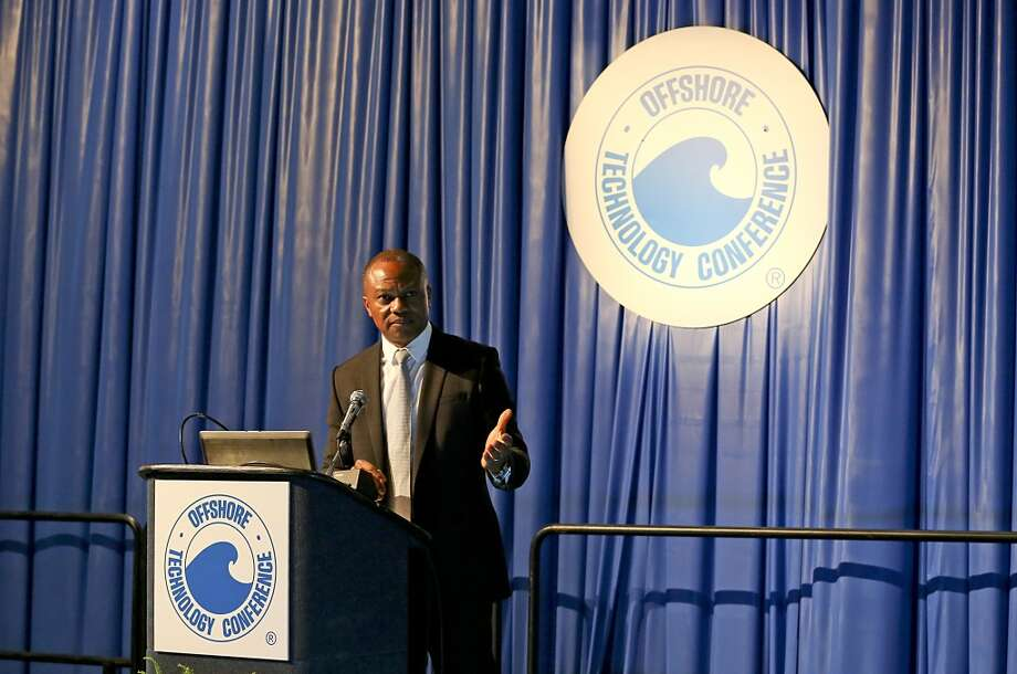 Sylvester Ukpolo talks about career orientation on May 5, 2014 in the NRG Center in Houston, TX. (Photo: Thomas B. Shea/For the Chronicle) Photo: Thomas B. Shea, For The Chronicle