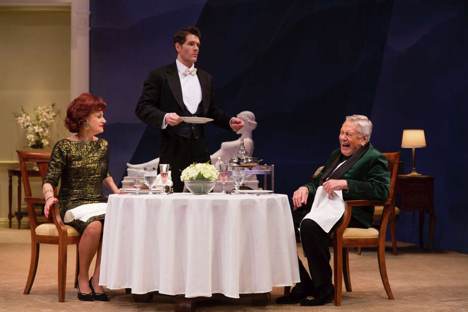 "The Westport Country Playhouse has opened its 2014 season with  Noel Coward's ""A Song at Twilight,"" featuring (from left) Gordana Rashovich, Nicholas Carriere and Brian Murray. The play runs through May 17. Photo: Contributed Photo, Contributed Photo / Connecticut Post Contributed"