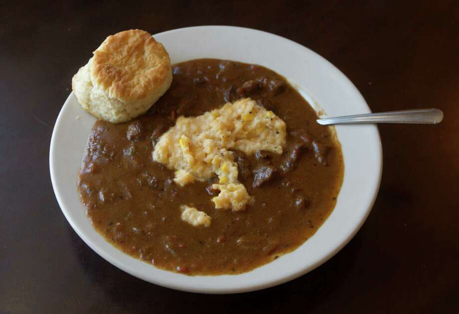Grillades and grits. Photo: J. Patric Schneider, Freelance / © 2014 Houston Chronicle