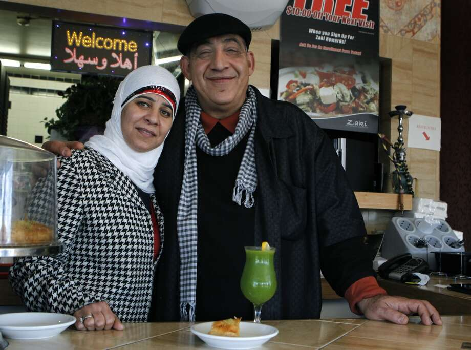 Naime Ayyad and his wife Fayza are seen at their Zaki Kabob House. Photo: Paul Chinn, The Chronicle