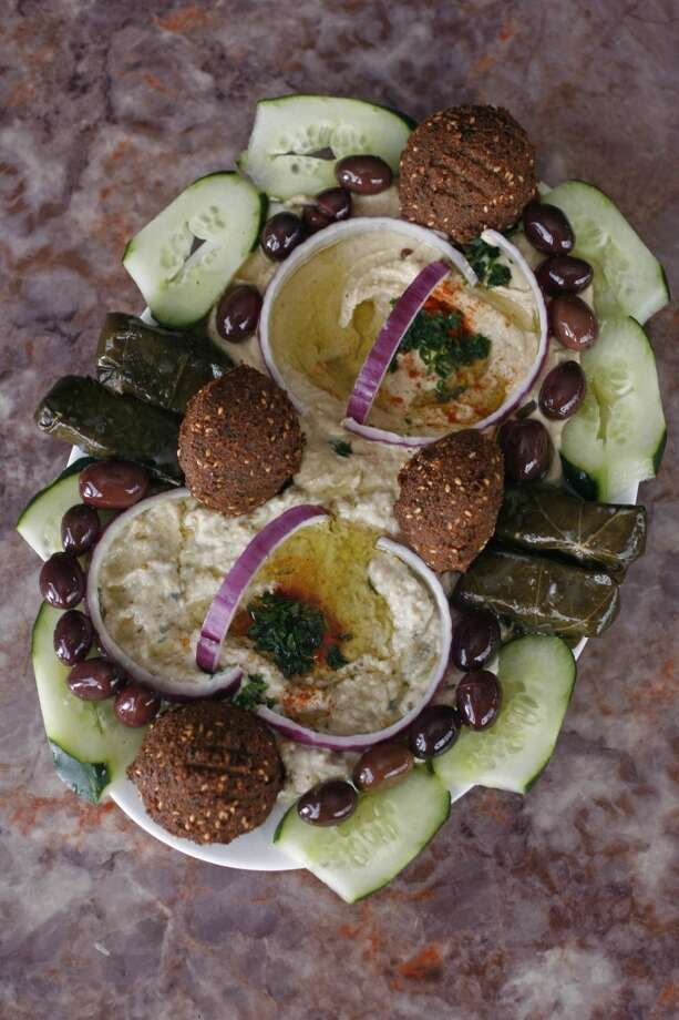 The Zaki Mediterranean plate at Zaki Kabob House in Albany. Photo: Hardy Wilson, The Chronicle
