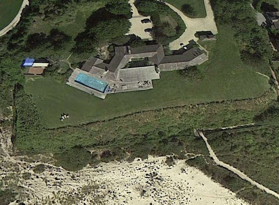 "60 Further Lane, East Hampton, NY has just taken the title of ""most  expensive home ever sold in the U.S"" - beating out Greenwich's 50-acre  Copper Beach farm. Photo: Google Earth"