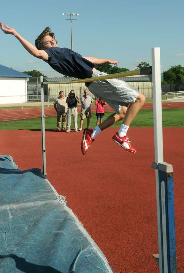 Garrett Cragin is one of 14 high school athletes in the country to clear 7-0 this year. Photo: Jerry Baker, Freelance
