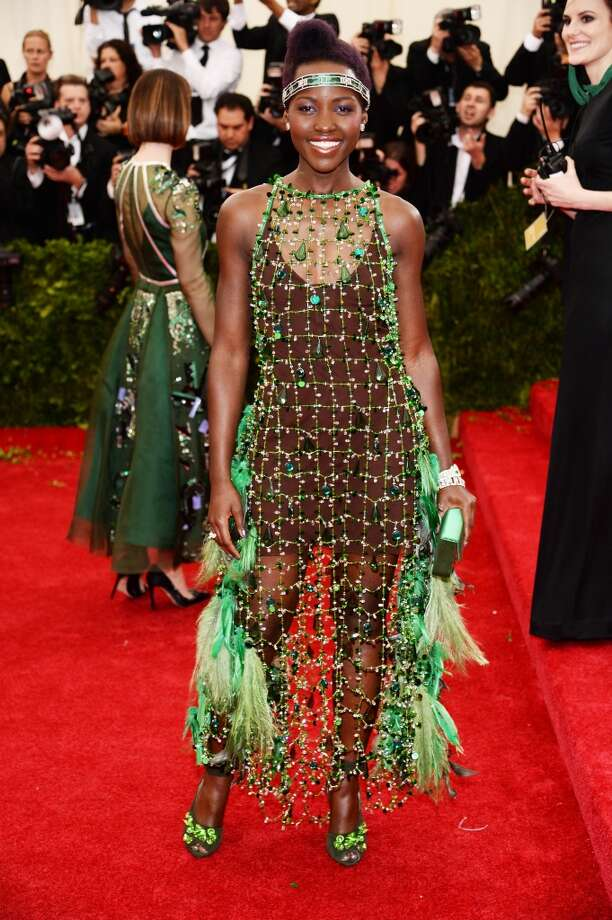 Worst: We thought Lupita Nyong'o could do no wrong, but this flapper-esque Prada dress just isn't right. Photo: Dimitrios Kambouris, Getty Images