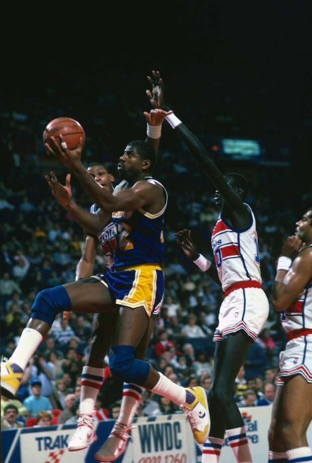 1986-87 — Magic Johnson, L.A. Lakers Photo: Focus On Sport, Getty Images