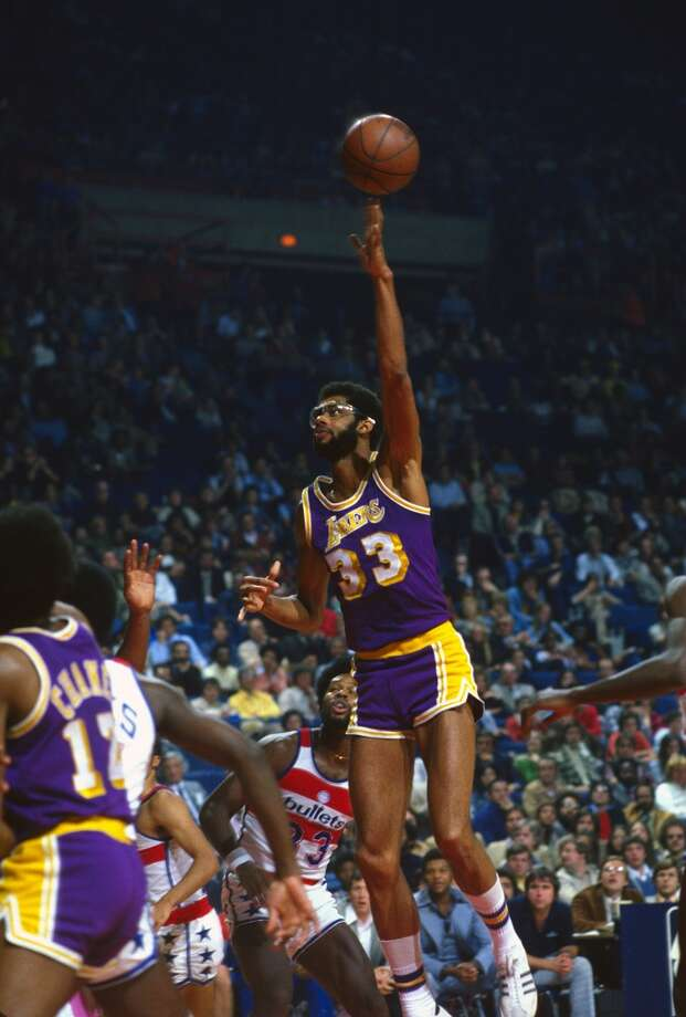 1976-77 — Kareem Abdul-Jabbar, L.A. Lakers Photo: Focus On Sport, Getty Images