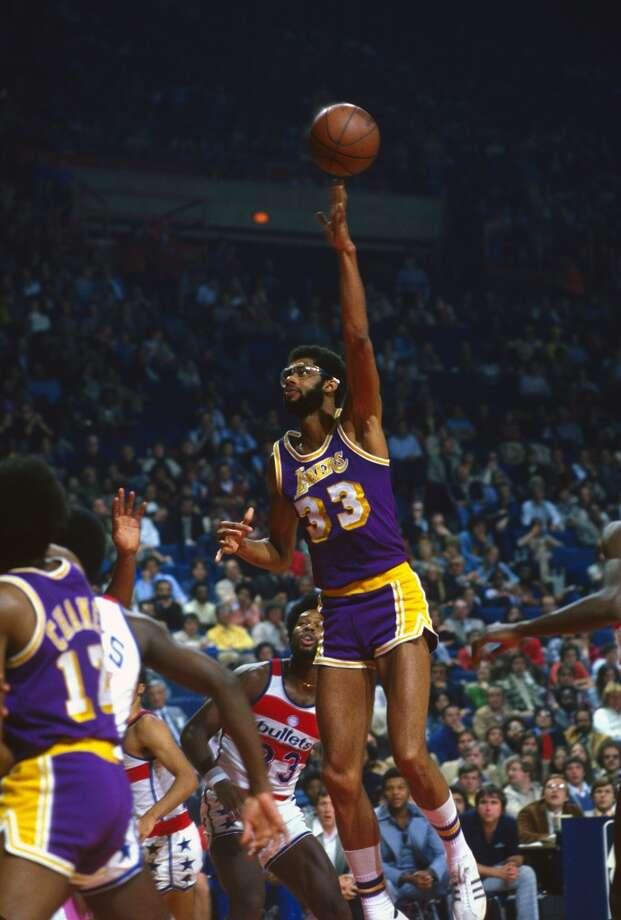 1976-77 — Kareem Abdul-Jabbar, L.A. Lakers Photo: Focus On Sport, Getty Images