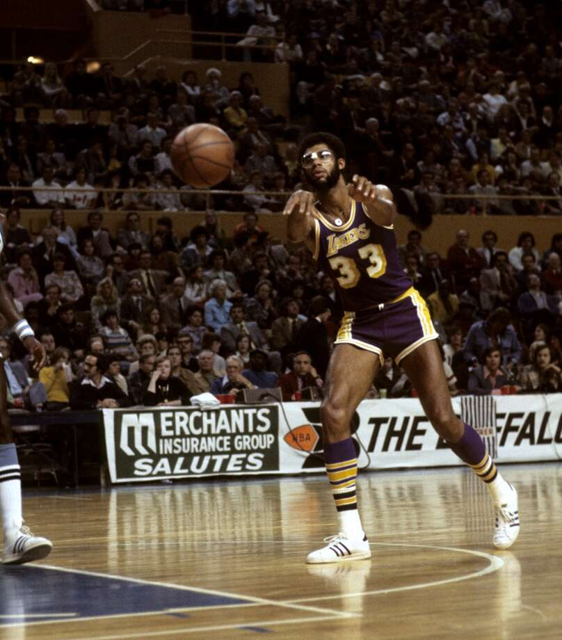 1975-76 — Kareem Abdul-Jabbar, L.A. Lakers Photo: Tony Tomsic, WireImage