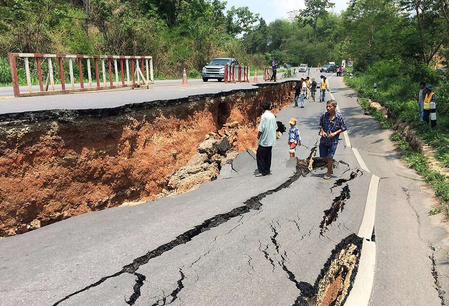 Better have four-wheel-drive: The 6.0-magnitude quake that struck northern Thailand has 