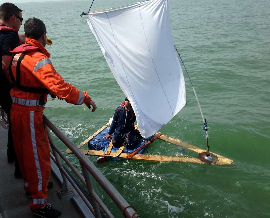 Probably saved his life: French coast rescuers intercept a 23-year-old Afghan trying to sail across the English 