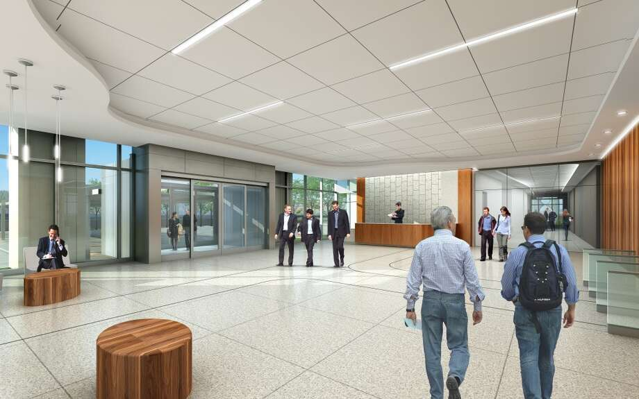 Inside one of the buildings planned at the new FMC Technologies campus. Photo: Gensler