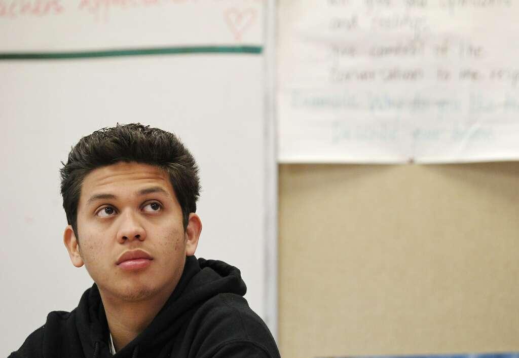 Jaime Velis, From El Salvador, Listens To Sadleru0027s Instructions During  Class. San Francisco