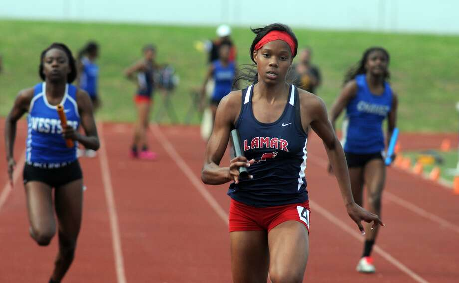 Lamar freshman Milan Young is favored to earn top honors at the UIL Class 5A Track and Field Championships this weekend in Austin. Photo: Jerry Baker, Freelance