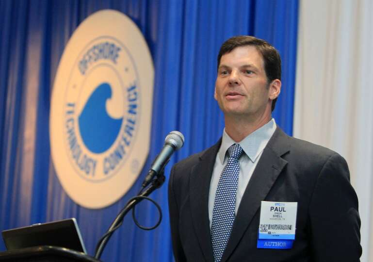 Shell's Paul Dixon delivers remarks in the Mars B Panel during the Offshore Technology Conference at