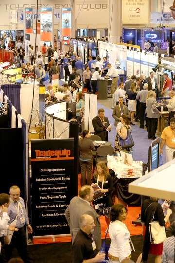 A general overall view of the OTC floor on May 6, 2014 in the NRG Center in Houston, TX. (Photo: Tho