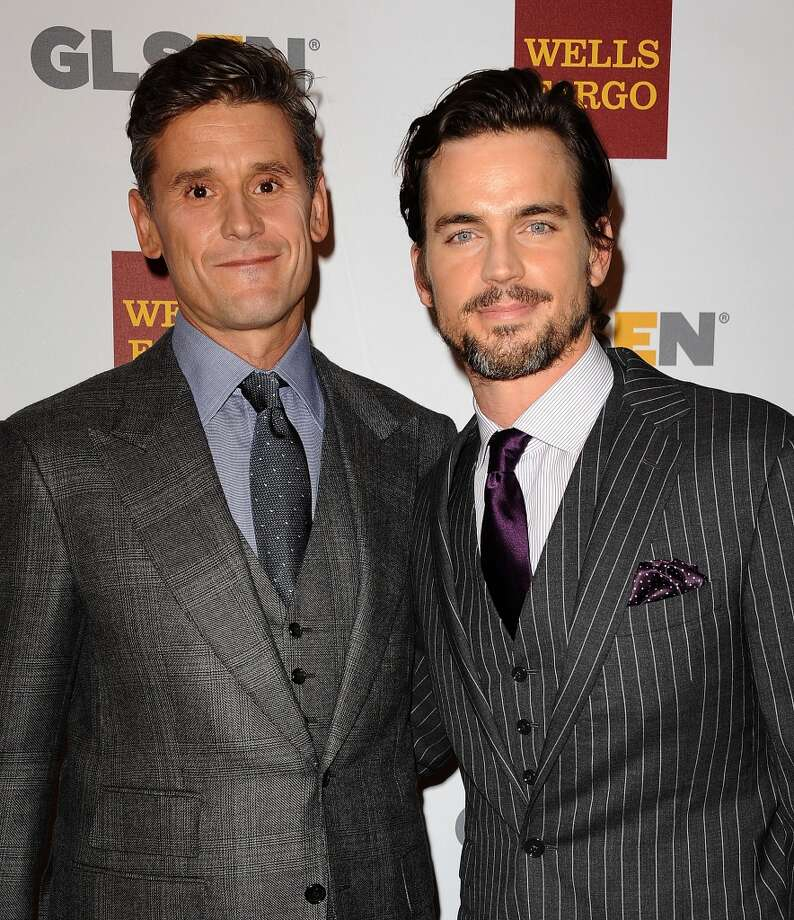 Actor Matt Bomer (right) and husband Simon Halls (the founder of Slate PR) have been married for three years: a secret Bomer was able to keep even though he only came out publically two years ago. The pair are fathers to three sons and very active in LGBT rights issues. Photo: Jason LaVeris, FilmMagic