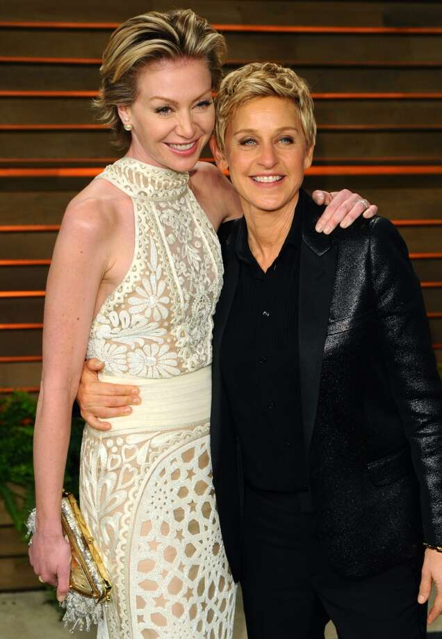 Portia de Rossi and Ellen DeGeneres are arguably America's favorite lesbian couple. They're both attractive, successful, and major philanthropists. It doesn't hurt that Ellen is also a beloved TV host and Portia a well regarded actress. Together, they're America's Power Gay Sweethearts. Photo: Anthony Harvey, Getty Images