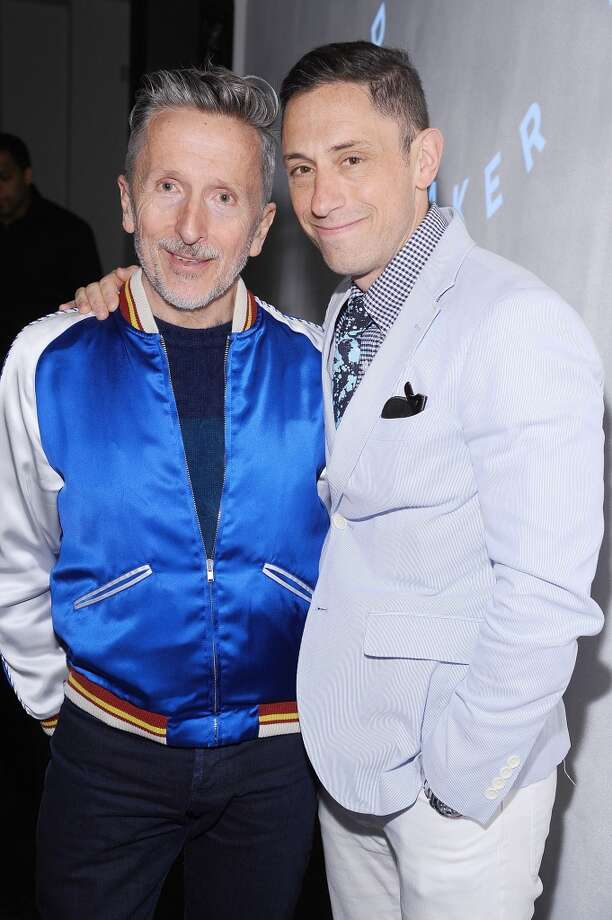 "Simon Doonan (left) and Jonathan Adler are a gay power couple to be reckoned with in the world of style. Doonan is the Creative-Ambassador-at-Large for Barneys, New York as well as a best-selling author and the creator of the hit UK series ""Beautiful People."" Adler is a famed home decor designer, potter and author. The pair were married in 2008 after fourteen years as a couple. Photo: Gary Gershoff, Getty Images For Housing Works"