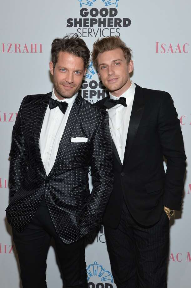 Oprah alum interior designer and TV host Nate Berkus and his husband, TV personality, designer and former Rachel Zoe assistant Jeremiah Brent, made history earlier this year when they were the first same sex couple featured in a Banana Republic campaign. They made history again this May when they were also the first same sex couple to get married at the historic New York Public Library. Photo: Mike Coppola