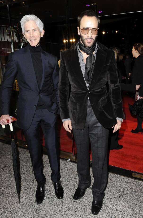 Journalist and former Vogue Hommes Editor-in-Chief Richard Buckley and fashion designer powerhouse Tom Ford have been a couple since 1986 and are fathers to a son born in 2012. Photo: Dave M. Benett, Getty Images