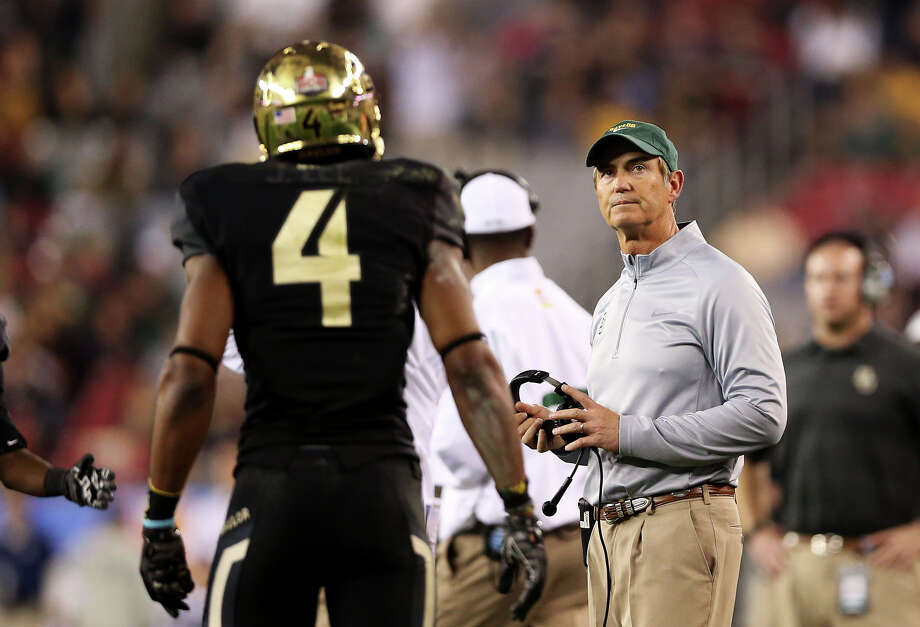 Current Baylor football coach Art Briles was a former head coach at the University of Houston.RELATED: Celebrity alumni of 28 Texas universities Photo: Christian Petersen, Getty Images / 2014 Getty Images