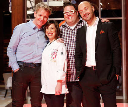 """""""Masterchef"""" Season 3 winner Christine Ha (second from left) earned a Master of Fine Arts degree for creative fiction/nonfiction at the University of Houston.RELATED: Celebrity alumni of 28 Texas universities Photo: FOX, Getty Images / 2013 FOX"""