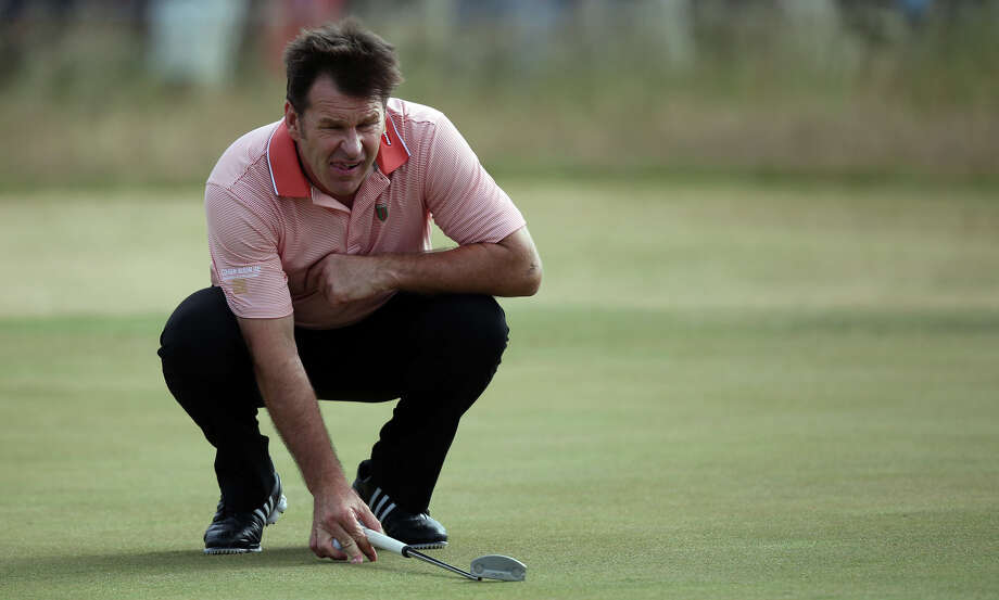 Nick Faldo, who has won the PGA's Masters and Open Championship three times each, played on the University of Houston golf team for a year before going professional.RELATED: Celebrity alumni of 28 Texas universities Photo: ADRIAN DENNIS, Getty Images / 2014 AFP