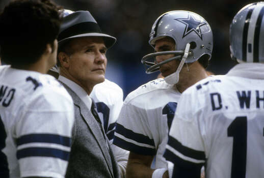 Famed Dallas Cowboys coach Tom Landry earned a Master's degree in industrial engineering from the University of Houston.RELATED: Celebrity alumni of 28 Texas universities Photo: Focus On Sport, Getty Images / 2010 Focus on Sport