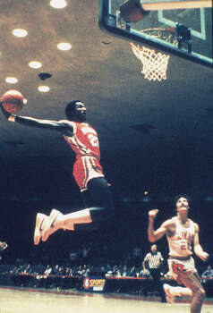 NBA All-Star Clyde Drexler was a member of the University of Houston Cougars basketball team. Photo: Collegiate Images, Getty Images / 1982 Houston
