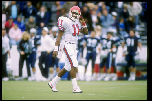 Andre Ware won the Heisman Trophy in 1989 as quarterback of the University of Houston Cougars.RELATED: Celebrity alumni of 28 Texas universities Photo: Joe Patronite, Getty Images / Getty Images North America