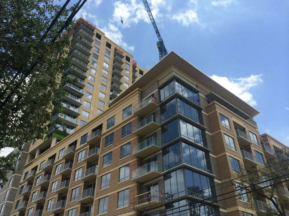 The Sovereign at Regent Square is under construction at 3233 W. Dallas. Across the Houston area, apartment rents are up 6.5 percent over the last 12 months. Photo: Nancy Sarnoff