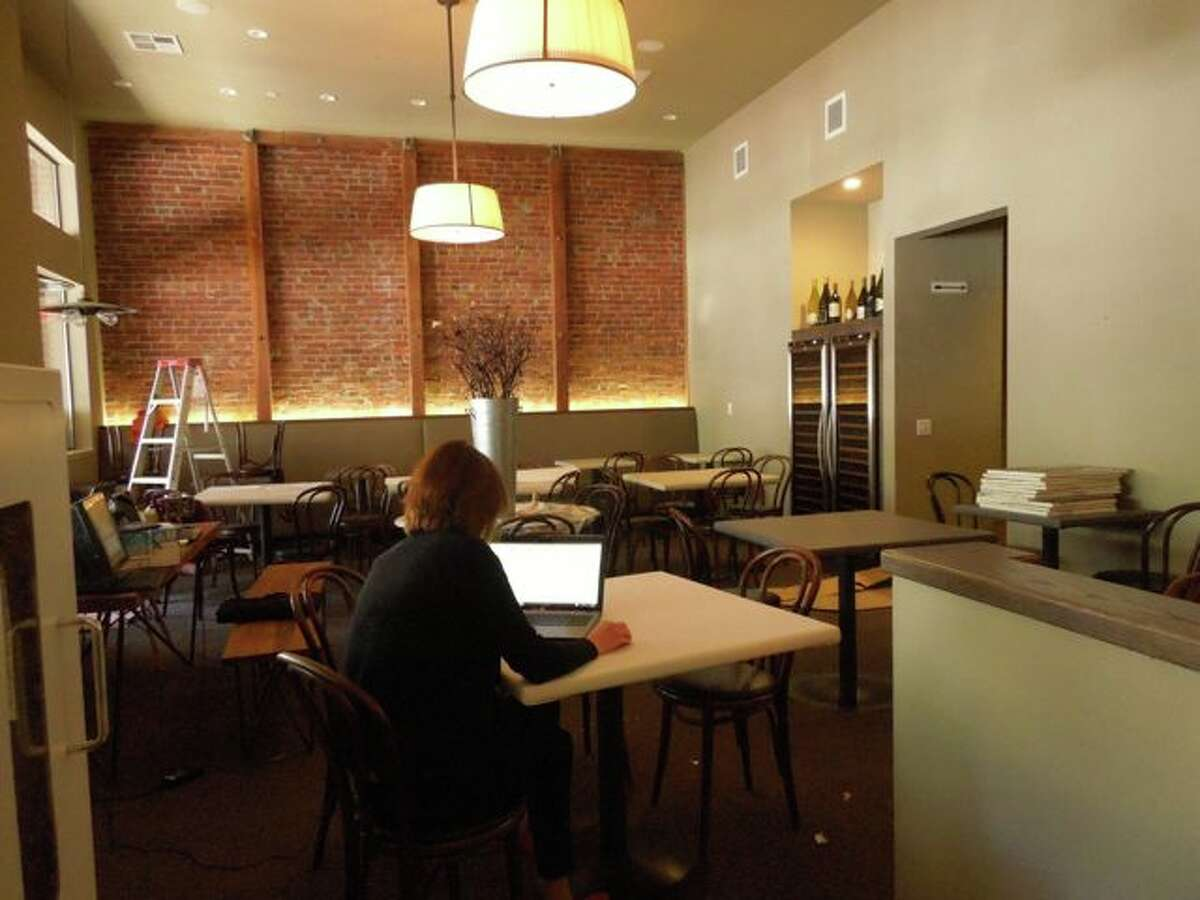 The new dining room takes over former bakery space