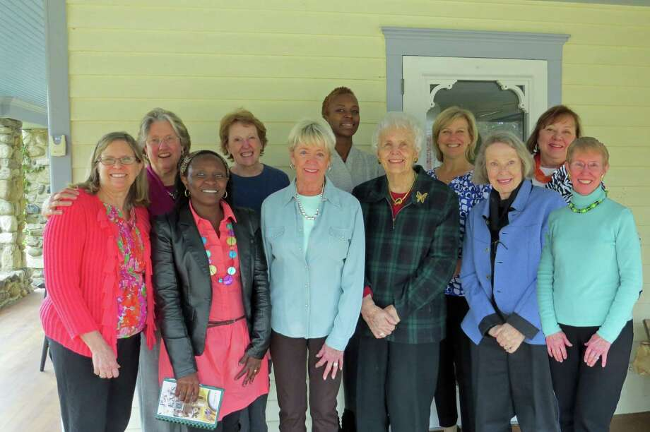 New Canaan Chapter N of P.E.O. recently honored International Peace Scholarship scholars Lydia Namatende from Uganda, front row, second from left; and Iris Amuto from Kenya, back row, center. Photo: Contributed Photo, Contributed / New Canaan News Contributed
