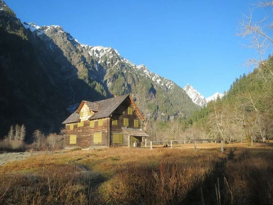 The Enchanted Valley Chalet, in Olympic National Park, is shown in January 2014. Photo: Washington Trust For Historic Preservation