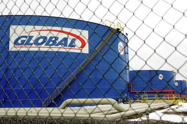Global Oil Company tanks on Wednesday, March 12, 2014, at the Port of Albany in Albany, N.Y. (Cindy Schultz / Times Union)