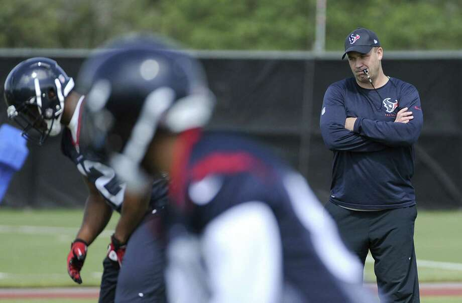 Bill O'Brien oversees his first workout as the Texans' coach at Tuesday's voluntary veteran minicamp. The former Penn State coach replaced the fired Gary Kubiak. Photo: Pat Sullivan / Associated Press / AP