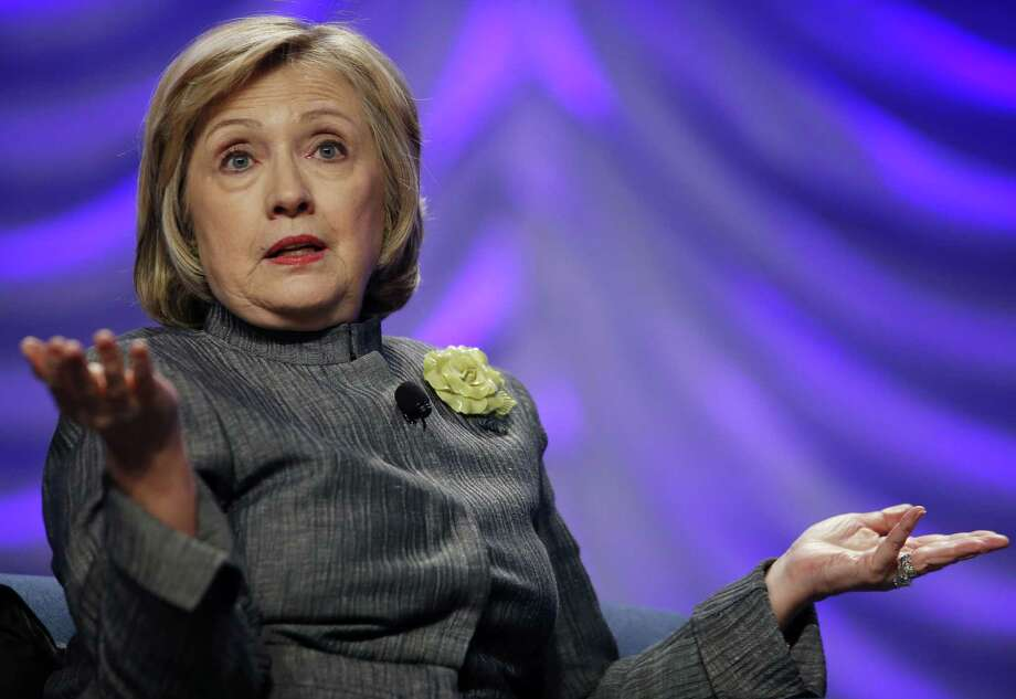 Former Secretary of State Hillary Clinton also told the National Council for Behavioral Health conference she's mulling her future. Photo: Charles Dharapak / Associated Press / AP