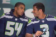 2. 2012    First selection: Bruce Irvin (LB, West Virginia)   Other notables: Bobby Wagner (LB, Utah State), Russell Wilson (QB, Wisconsin), J.R. Sweezy (G, NC State)   The Hawks added two pieces of a Super Bowl puzzle with their franchise quarterback (right) and defensive signal caller (left).
