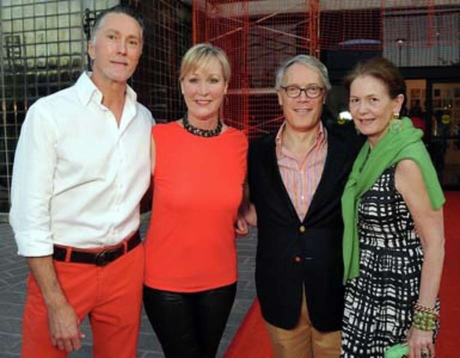 "From left: Chairs Gregory Fourticq Jr and Sara Paschall Dodd with Steve and Betty Newton at ""The Wrecking Ball"" benefitting the Glassell School of Art Friday May 02, 2014.(Dave Rossman photo) Photo: Dave Rossman, For The Houston Chronicle / © 2014 Dave Rossman"