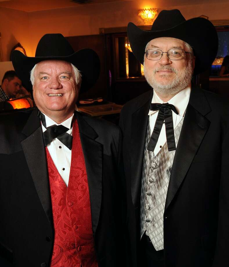 Billy Taylor and Ray Buchanan at the Texas Oilman's Gala, held at the Majestic Metro downtown on May 6. Photo: Dave Rossman, For The Houston Chronicle
