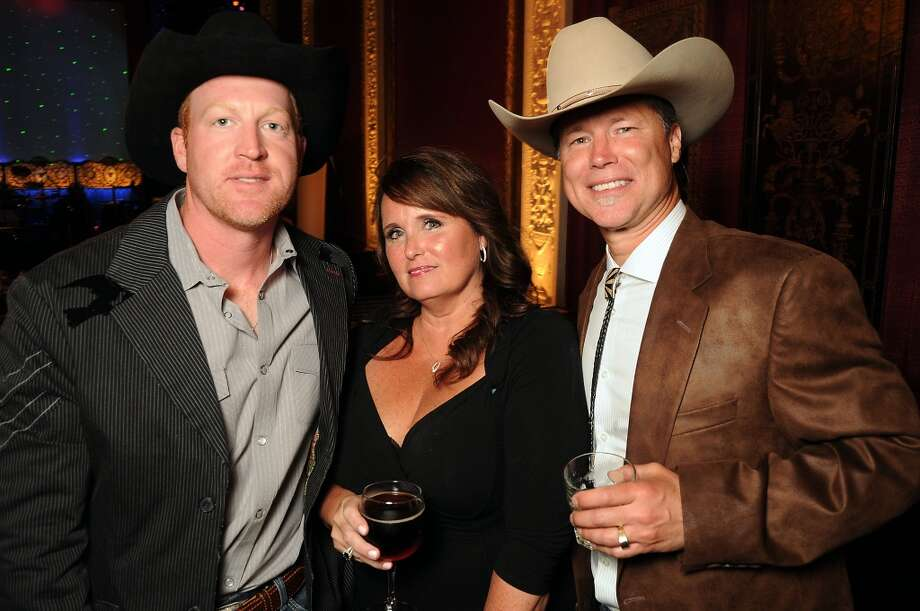 Seth Sadler, left, Brenda Alford and Pete Knight at the Texas Oilman's Gala. Photo: Dave Rossman, For The Houston Chronicle