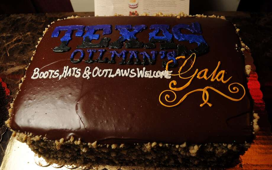 The cake at the Texas Oilman's Gala. Photo: Dave Rossman, For The Houston Chronicle